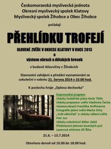 plakát_výstava trofejí_s doprovodným programem