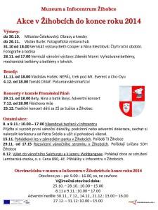 akce a otevírací doba Žihobce do konce roku 2014