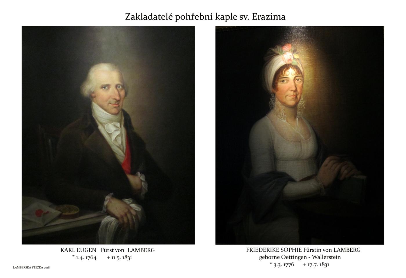 Obrazy zakladatelů kaple