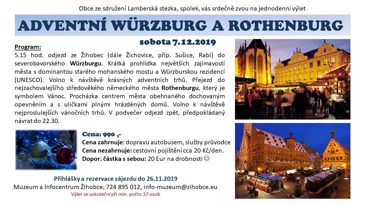 Advent 2019 - Würzburg a Rothenburg